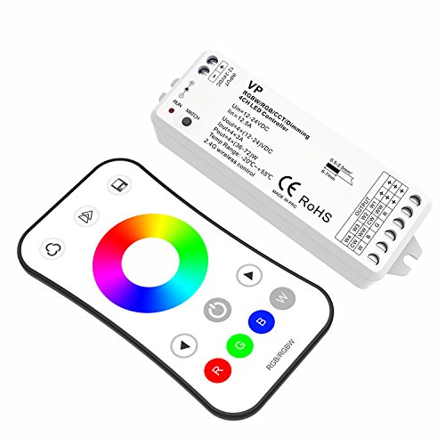 RF RGBW LED Strip Controller 4CH 6A Controller Smooth Dimming and Switch without any flickering 12-24V