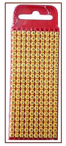 Hellermann Tyton 561-01101 WIC Vorbedruckte Kabelmarkierer WIC1 0-9, aufklickbar