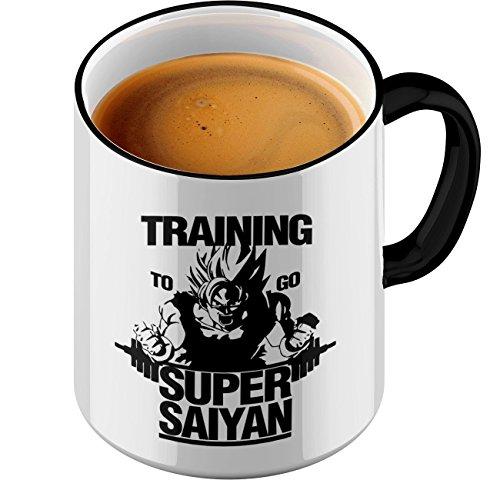 StyloTex - Taza de café con diseño de Super Saiyan