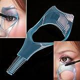 Jovana 3 in 1 Mascara Applicator Guide Tool Eyelash Comb Makeup Plastic Curler Beauty
