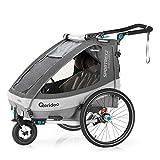 Qeridoo Sportrex2 (2020/2021) Fahrradanhänger 2 Kinder, einstellbare...