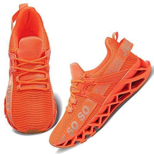 Wonesion Damen Laufschuhe Sportschuhe Straßenlaufschuhe Sneaker Damen Tennisschuhe Fitness Schuhe 40 EU 5 Orange