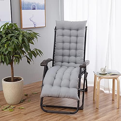 H·Aimee Cojín Grueso y Largo para Tumbona reclinable con Respaldo,colchoneta para sillas de jardín,Asientos reclinables y Bancos,Ideal para Interiores o Exteriores