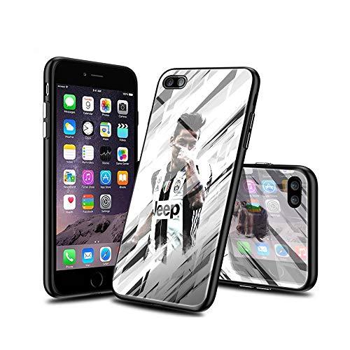 SoYunYlXa Compatible iPhone 7 Plus Funda, iPhone 8 Plus Funda, Cárcasa Silicona Cristal Templado con Dibujos diseño Antigolpes de Protector Case Cover para iPhone 7 Plus/iPhone 8 Plus D#YlX 001
