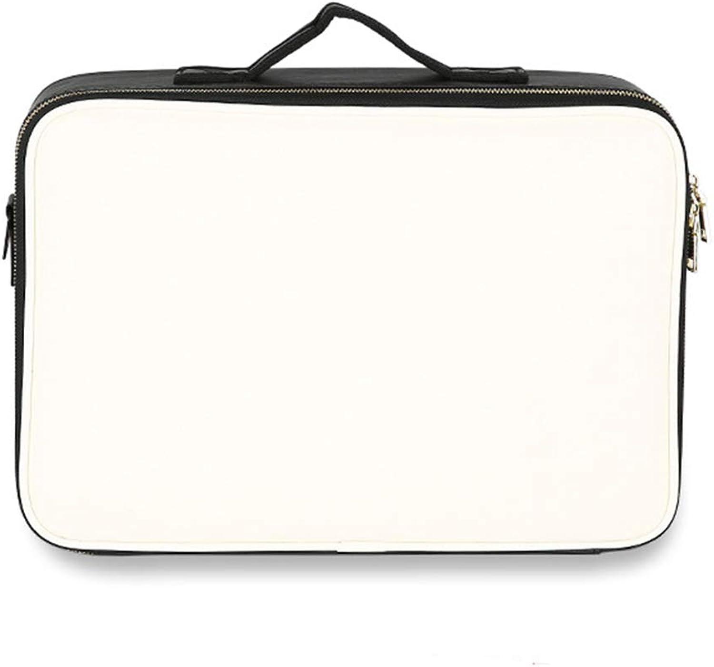 Professionelle kosmetische Tasche Wasser-sichere PU Großaufsichtskapazität Multi-Function Adjustable Partition Portable Storage Box für Frau Mädchen,L B07Q4PYV6V
