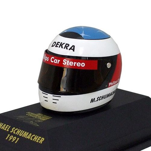 MS Collection Michael Schumacher Replika Helm Dekra F1 1991, Minichamps 1:8