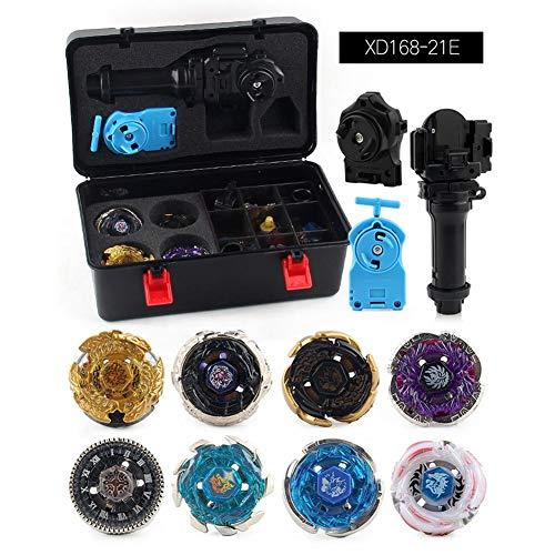 Rot CUTICATE 12 St/ück Kampfkreisel Set 4D Fusion Modell Metall Masters Kreisel mit Launcher Koffer und anderem Zubeh/ör Kinderspielzeug