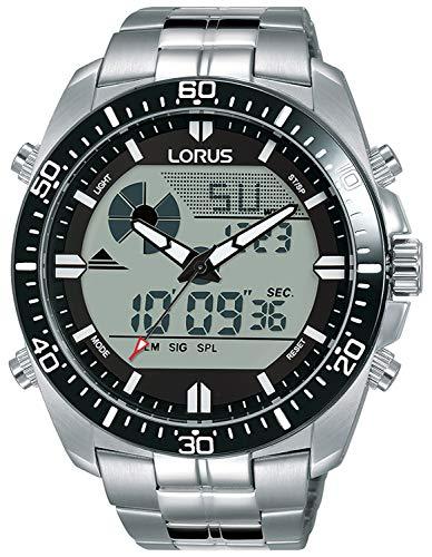 Lorus Digital Man Reloj para Hombre Analógico de Cuarzo con Brazalete de Acero Inoxidable R2B03AX9