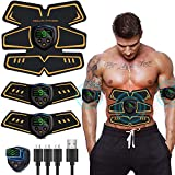 Abs Stimulator Abdominal Muscle, Muscle Stimulator, EMS ABS Trainer Body Toning Fitness, USB Rechargeable Toning Belt ABS Fit Weight Muscle Toner Workout Machine for Men & Women