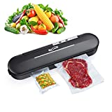 Housmile Vacuum Sealer, Home Food Saver Machine | One Touch Sealing | Fresh Preservation for for Dry & Moist Food with 10Pcs BPA-Free Seal Bags
