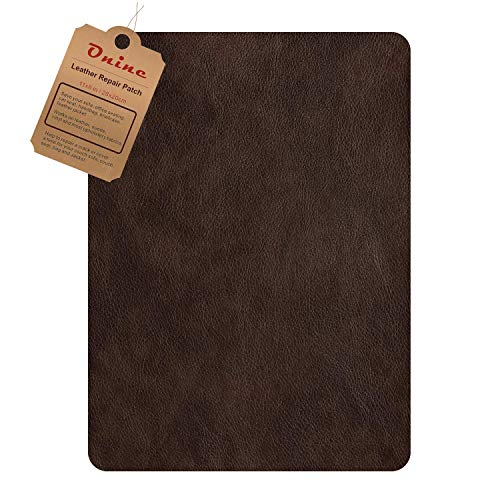 Leather Repair Patch?Self-Adhesive Couch Patch?Multicolor Available Anti Scratch Leather 8X11 Inch Peel and Stick for Sofas, car Seats Hand Bags Jackets?New Dark Brown?