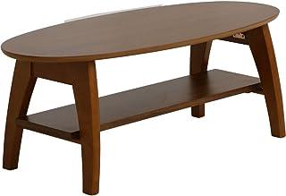 アイリスプラザ ローテーブル ブラウン 楕円形 オーバル STRTBLWN