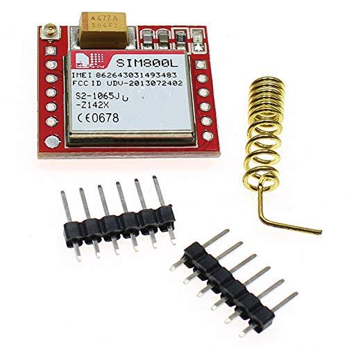 nakw88 Modulo gsm Professionale SIM800L Mini Wireless MicroSIM più Piccolo GPS Accessaries GPRS 3.7V-4.2V Porta seriale Ttl Core Board Quad-Band(No Antenna)