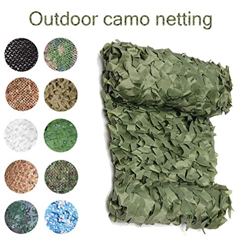 3x4m/10x13ft Camouflage Netting Camo Net Sunscreen Nets For Sunshade Camping Woodland Jungle Camouflage Nets Hunting Shooting Shelter Hide Netting Sun Shelter (Color : -, Size : 2x3m/6x10ft)