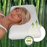 daydream Kopfkissen aus Natur Latex mit Bambus-Bezug - Allergiker geeignete Testsieger Kissen mit Aloe Vera (P-12500)