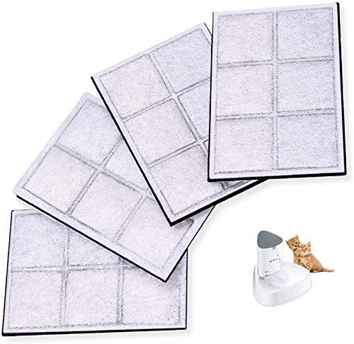 isYoung Filtro de carbón activo para fuente de 1,5 L LED para perros y gatos. Filtro automático para bebidas para animales domésticos. Filtro de repuesto para dispensador de agua