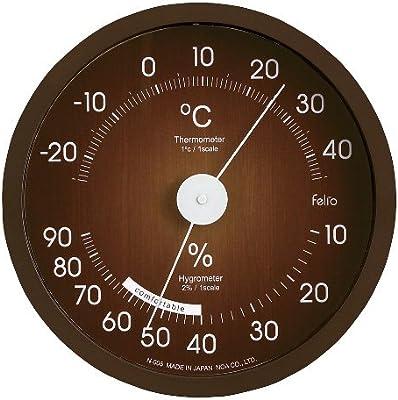 felio(フェリオ) アナログ温湿度計 エアリーフ ブラウン N-005 BR