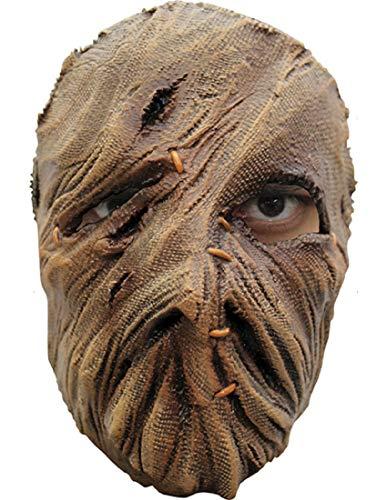 Einäugige Vogelscheuche Maske des Grauens aus Latex - Erwachsenen Horror Kostüm Vollmaske - ideal für Halloween, Karneval, Motto- & Grusel-Party