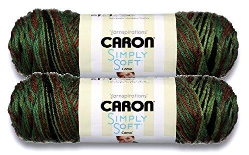 Caron Simply Soft Bulk Buy Camo 100% Acrylic Yarn (2-Pack) ~ 5 oz. Skeins (Renegade Camo)
