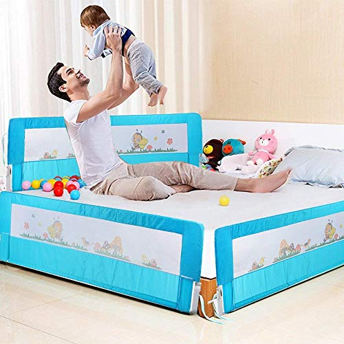 Baby-Bettschutz – 180 cm tragbares Bett faltbar Kleinkind Sicherheit Bettgitter Kinder Schlafschutz Faltbar Baby Bettgitter Schutz Schutz Guards 180 x 64 cm