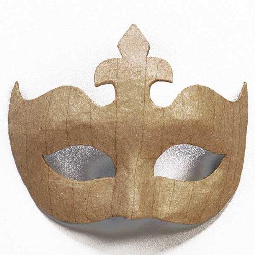 Augenmaske - Maske aus Pappmaché zum Selbstgestalten 14 x 17 cm, Krone
