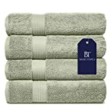 Banio Towels Bath Towel Sets 4 Pieces Sage Green 100% Turkish Cotton Luxury Quick Dry Towels for Bathroom, Guests, Hot Tub - Hotel Quality Collection Bath Towels, Soft and Ultra-Absorbent, 30x56 inch…