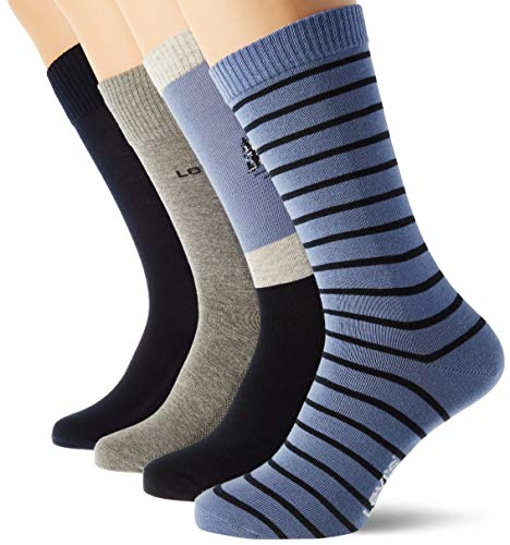 Levi's Unisex-Adult Mountain Regular Cut Giftbox (4 Pack) Sock, Blue Combo, 39/42 (4er Pack)
