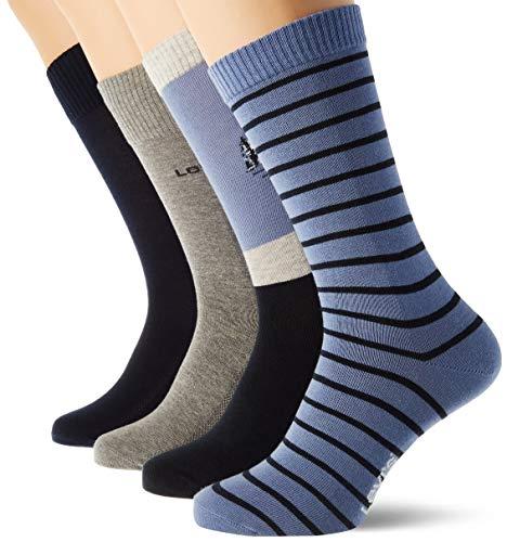 Levi's Mountain Regular Cut Socks Giftbox (4 Pack) CALCET, combo azul, 39/42 (Pack de 4) Unisex adulto