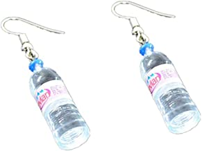 RUIZHEN Unique Water Bottle Drop Dangle Earrings Creative Earrings