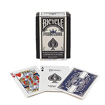 Bicycle Prestige Plastic Playing Cards  Colors May Vary