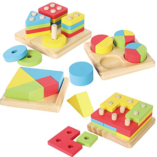 JOYIN Toy 4 in 1 Wooden...