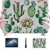 Mac Book Pro Cover Set Pintada a Mano Acuarela Plástico Carcasa Dura Compatible Mac Macbook Pro Funda 2015 Accesorios de protección para Macbook con Alfombrilla de ratón