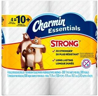 Procter & Gamble 4 Giant Rolls Charmin Essentials Strong Bath Tissue, 8 oz