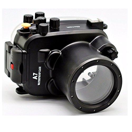 hofoo Buceo bajo el Agua 40m/130ft Impermeable IP8X Grado Funda para cámara Sony A7(28-70mm) con Intercambiables Puerto