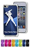 Case for iPhone 5C - Softball Player Woman - Personalized Engraving Included