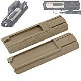 Tactical Light Switch Mount Kit TD Scar Pocket Panel for 20mm Picatinny Rail Flashlight PEQ Pressure Switch Mount Accessories(2 Pack) (Tan)