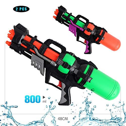 Pistola De Agua Grande Y Potente 8-10 M Pistola De Agua De Tiro De Larga Distancia Super Soaker Blaster para Niños Adultos Verano Playa Piscina Juego De Agua Juguetes 2 PCS