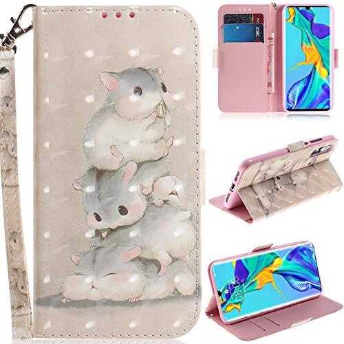 C/N DodoBuy Funda para Xiaomi Mi 10T Lite, 3D Magnético Flip Wallet Case Cover Carcasa Piel PU Billetera Soporte con Ranuras Tarjetas Cierre Correa de Muñeca - Ardilla