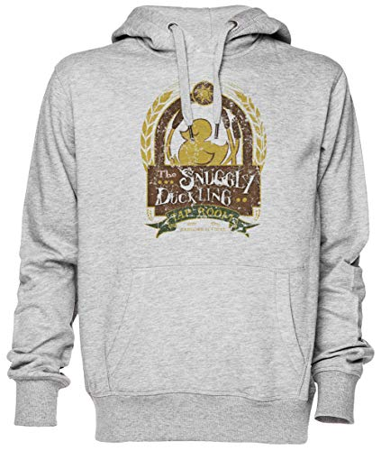 The Snuggly Duckling Gris Jersey Sudadera con Capucha Unisexo Hombre Mujer Tamaño XXL Grey Unisex Hoodie Size XXL