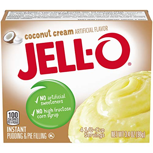 Jell-O Cook and Serve Coconut Cream Pudding, 3.4 oz Box