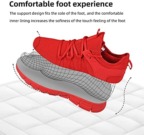 AOE Womens Walking Running Shoes Ultra Lightweight Breathable Mesh Tennis Shoes Non Slip Athletic Workout Gym Sneakers