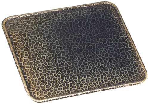 Kamino - Flam – Placa protectora contra chispas, Antichispas de suelo para chimenea, Salvachispas para estufa – resistente a altas temperaturas – Latón viejo, 80 x 50 cm