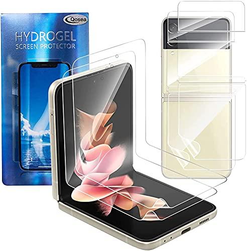 Qoosea Protector de Pantalla para Samsung Galaxy Z Flip 3 (2021) 5G, [3 Piezas], HD Suave Claro Película de TPU Flexible Soft Film para Samsung Galaxy Z Flip 3 (2021) 5G[Sin Burbujas] [Anti-arañazos]