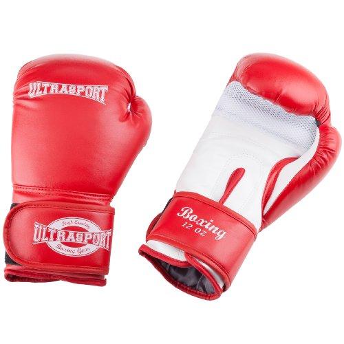 Ultrasport Boxhandschuhe 12 Oz, Rot/Weiß, 12