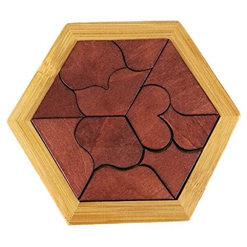 Pentomino Square Puzzle Denkspiel Knobelspiel Geduldspiel aus Holz