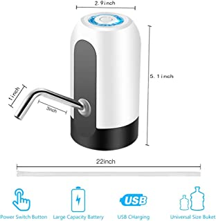 Water Bottle Pump, USB Charging Automatic Drinking Water Pump Portable Electric Water Dispenser Water Bottle Switch for Universal 5 Gallon Bottle