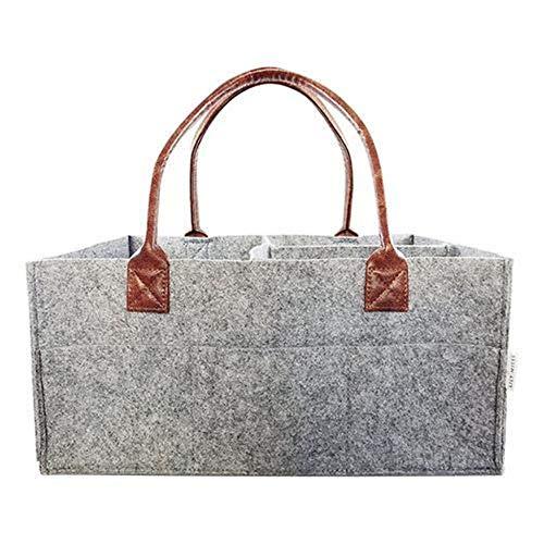 Makeup Organizer Filz Einsatz Tasche für Handtasche Reise Baby Pflege Windel Aufbewahrungstasche Tragbare Kosmetiktaschen Toiletry-Grey_China_15 * 10 * 7inch