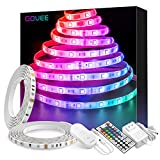 Govee LED Strip Lights 32.8ft Waterproof Color Changing Light Strips with Remote, Bright 5050 and Multicolor RGB LED Lights for Room, Bedroom, Kitchen, Yard, Party, Christmas (Packaging May Vary)