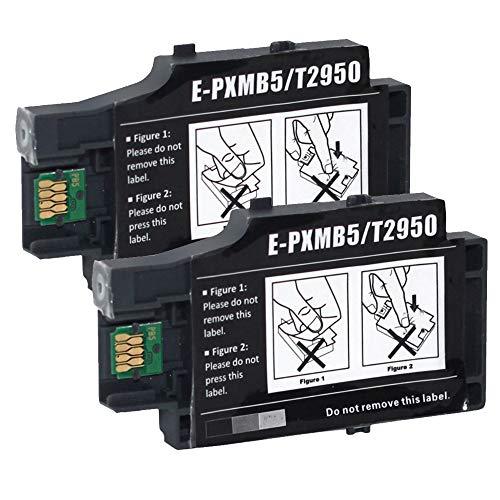 B-T T2950 E-PXMB5 Tintenpatronen-Wartungstank für C13T295000 T295000 T-2950 kompatibel für Workforce WF-100 WF-100W WF100 WF100W Tintenstrahldrucker, 2 Stück