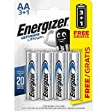 Energizer Ultimate Lithium AA 3+1 Baterías Carded 4